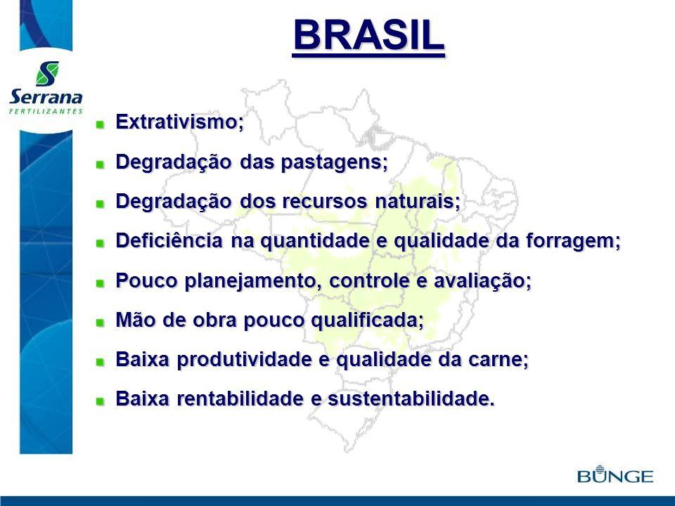 BRASIL Extrativismo; Degradação das pastagens;