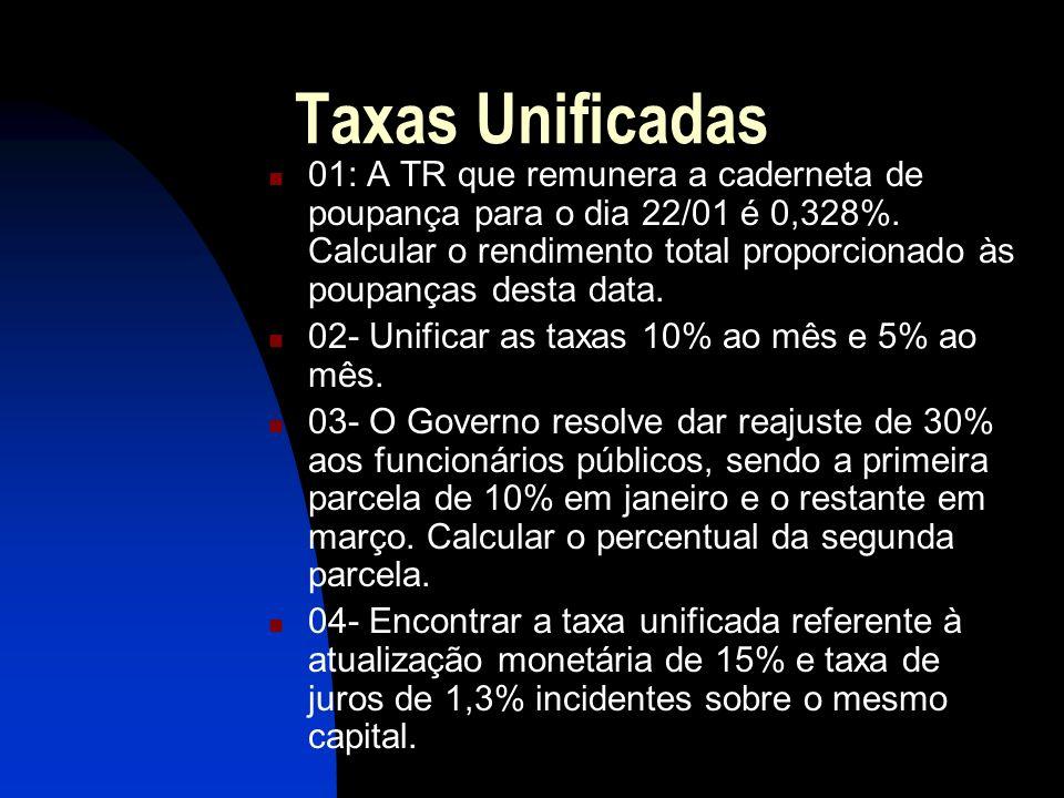 Taxas Unificadas