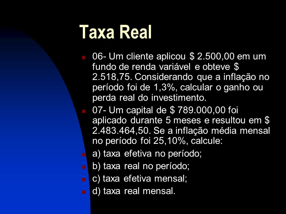 Taxa Real