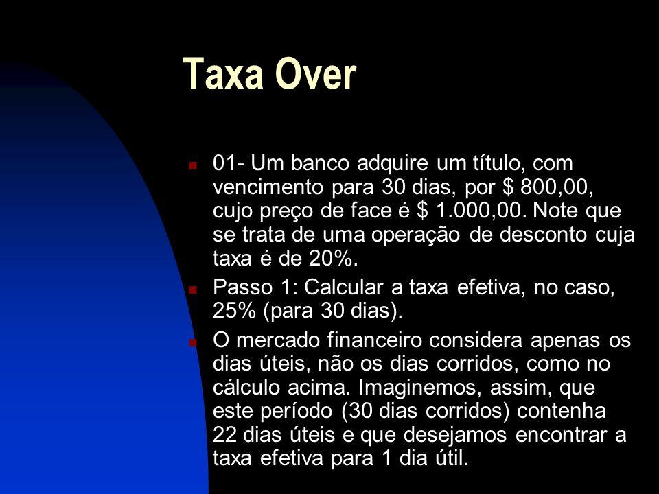 Taxa Over