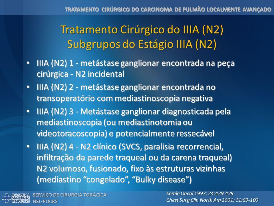 Tratamento Cirúrgico do IIIA (N2) Subgrupos do Estágio IIIA (N2)