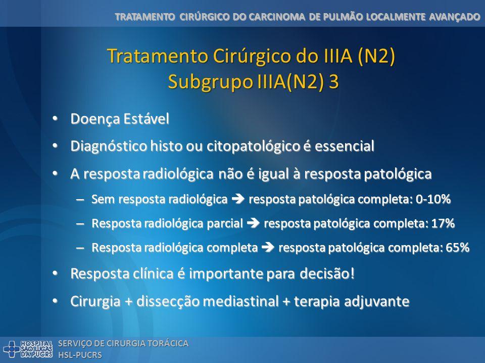 Tratamento Cirúrgico do IIIA (N2) Subgrupo IIIA(N2) 3