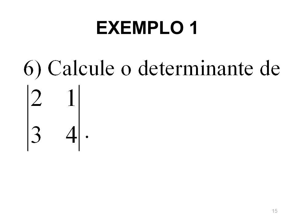 EXEMPLO 1 15