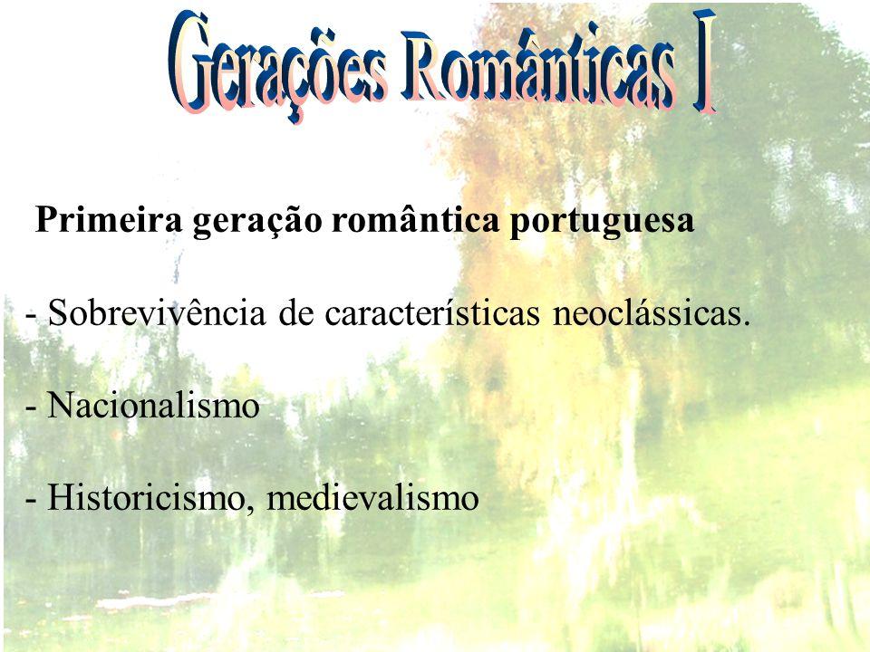 ROMANTISMO - REVISÃO Burguesia Aristocracia Política Social Econômica