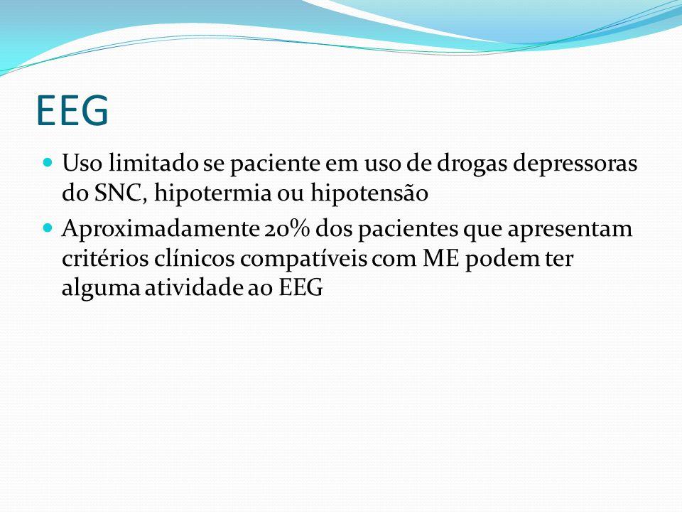 EEG Uso limitado se paciente em uso de drogas depressoras do SNC, hipotermia ou hipotensão.