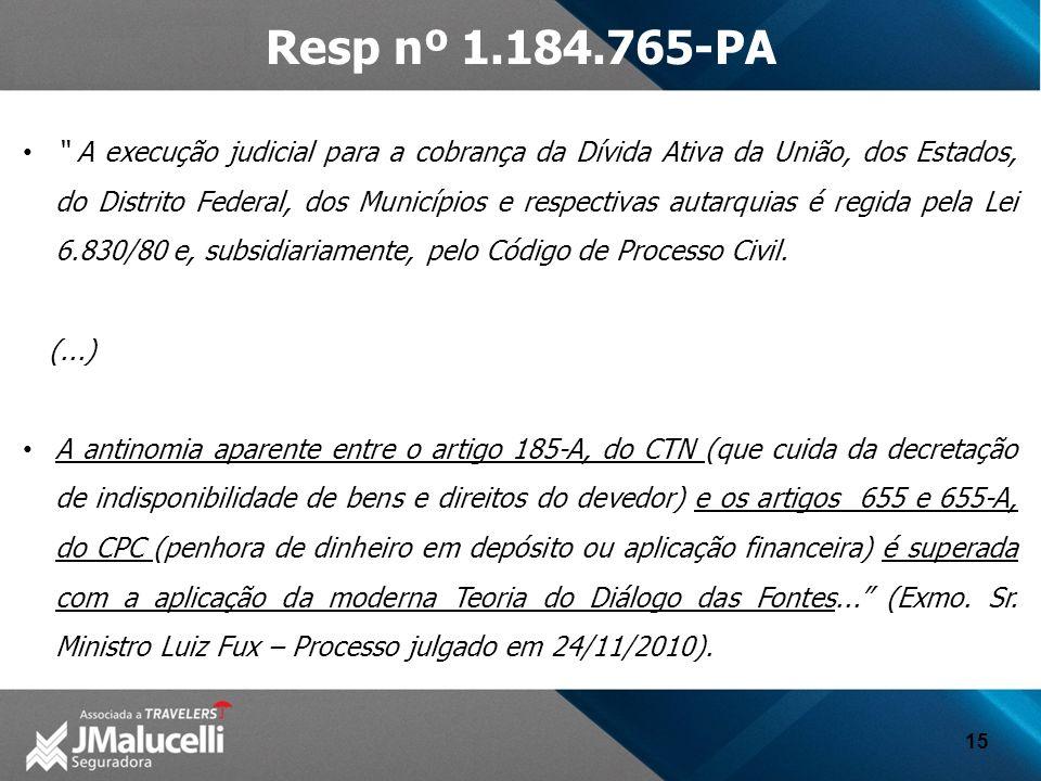 Resp nº 1.184.765-PA