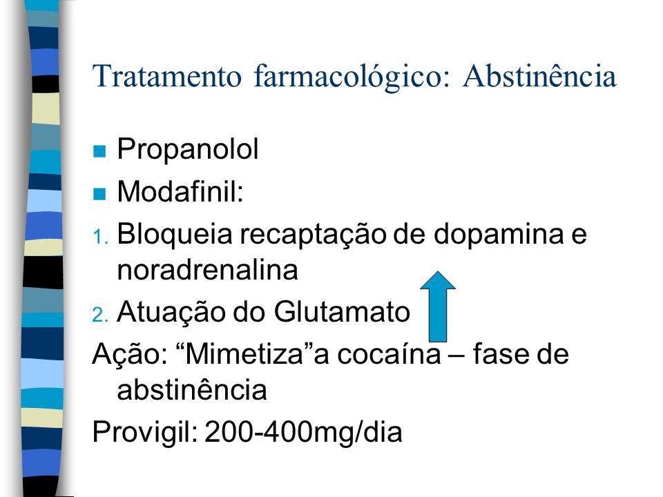 Tratamento farmacológico: Abstinência