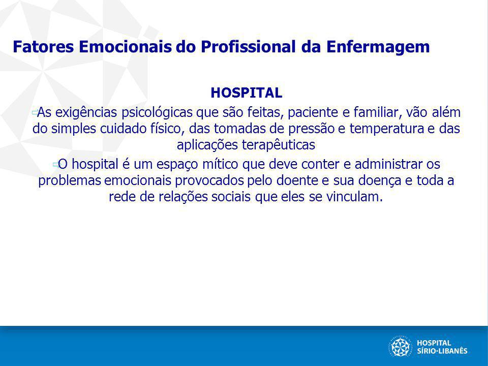 Fatores Emocionais do Profissional da Enfermagem