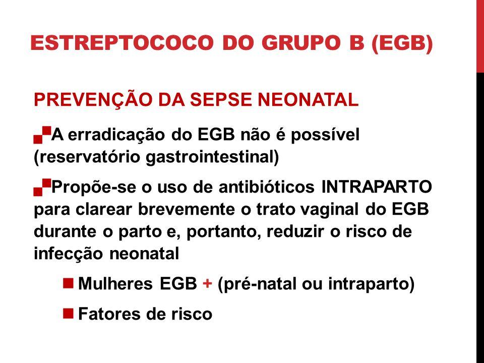 ESTREPTOCOCO DO GRUPO B (EGB)