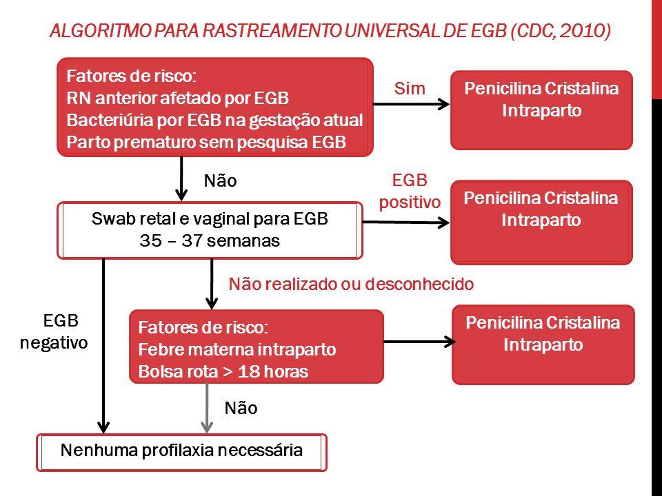 Algoritmo para rastreamento universal de EGB (CDC, 2010)