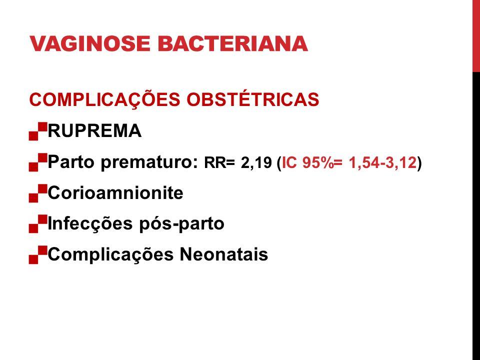 VAGINOSE BACTERIANA COMPLICAÇÕES OBSTÉTRICAS RUPREMA