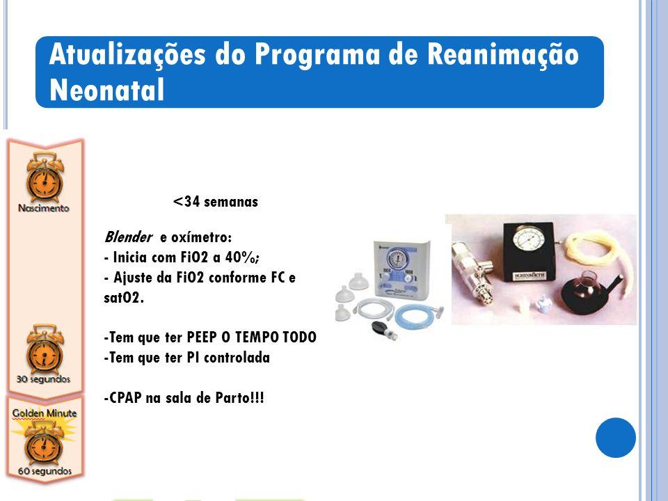 Atualizações do Programa de Reanimação Neonatal