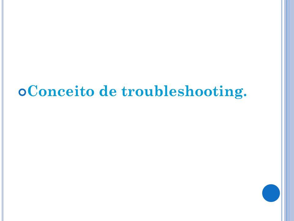 Conceito de troubleshooting.