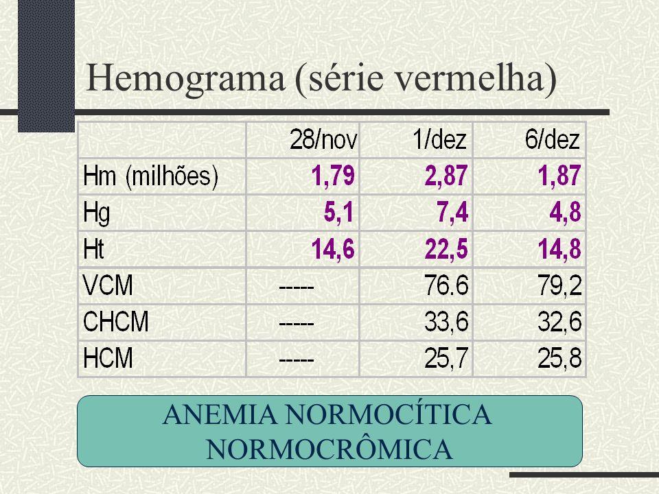 Hemograma (série vermelha)