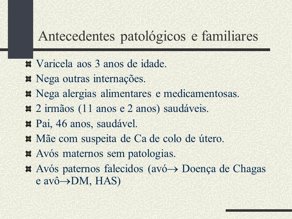 Antecedentes patológicos e familiares