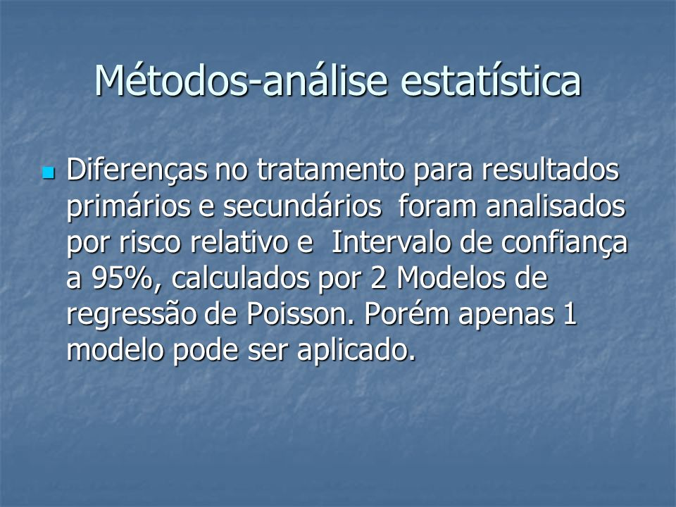 Métodos-análise estatística