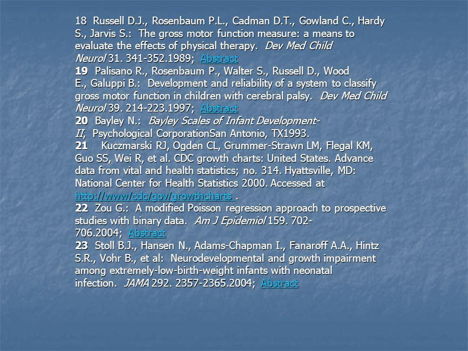 18 Russell D. J. , Rosenbaum P. L. , Cadman D. T. , Gowland C