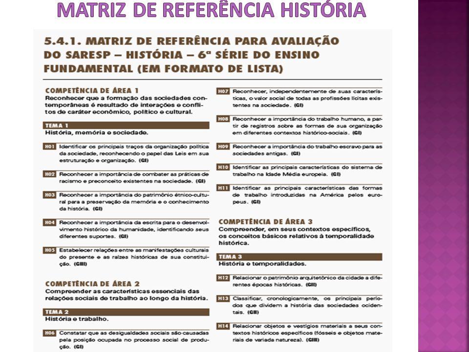 MATRIZ DE REFERÊNCIA HISTÓRIA