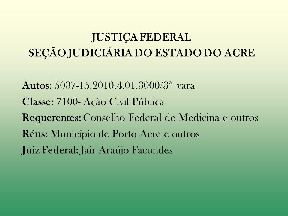 SEÇÃO JUDICIÁRIA DO ESTADO DO ACRE