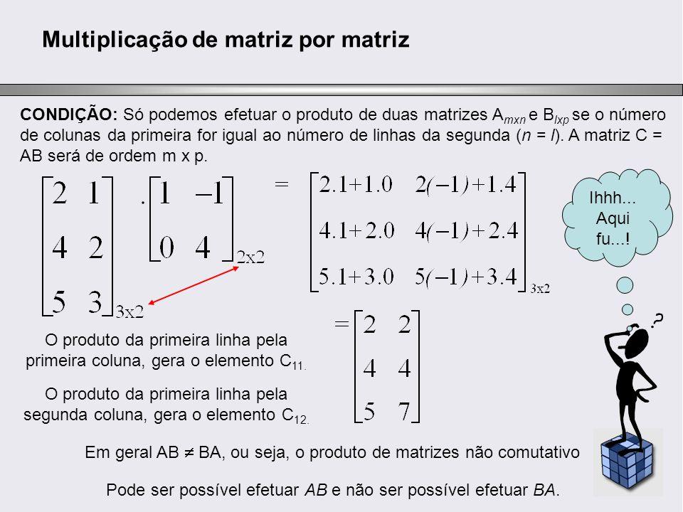 Multiplicação de matriz por matriz