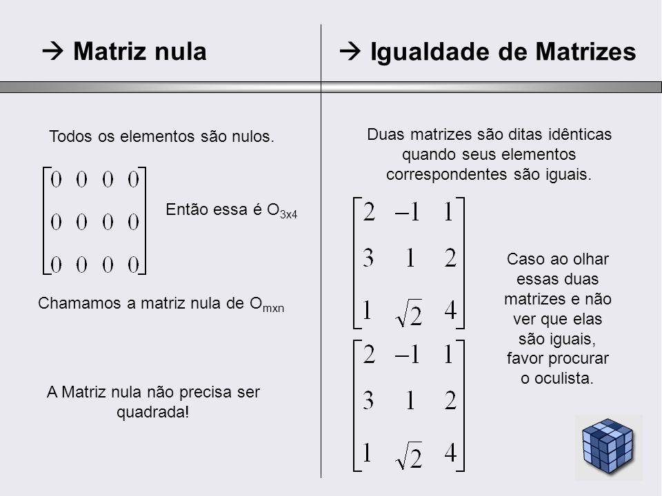  Igualdade de Matrizes
