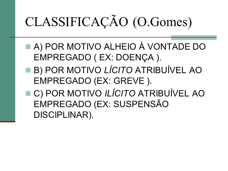 CLASSIFICAÇÃO (O.Gomes)