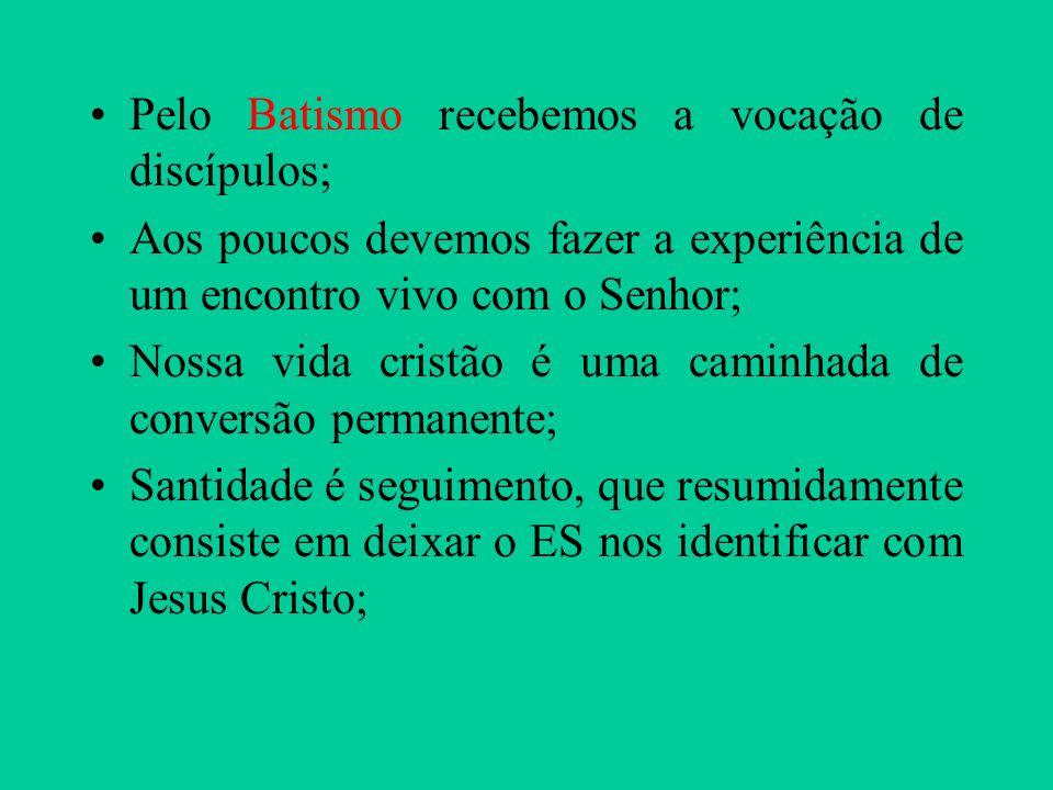 Pelo Batismo recebemos a vocação de discípulos;
