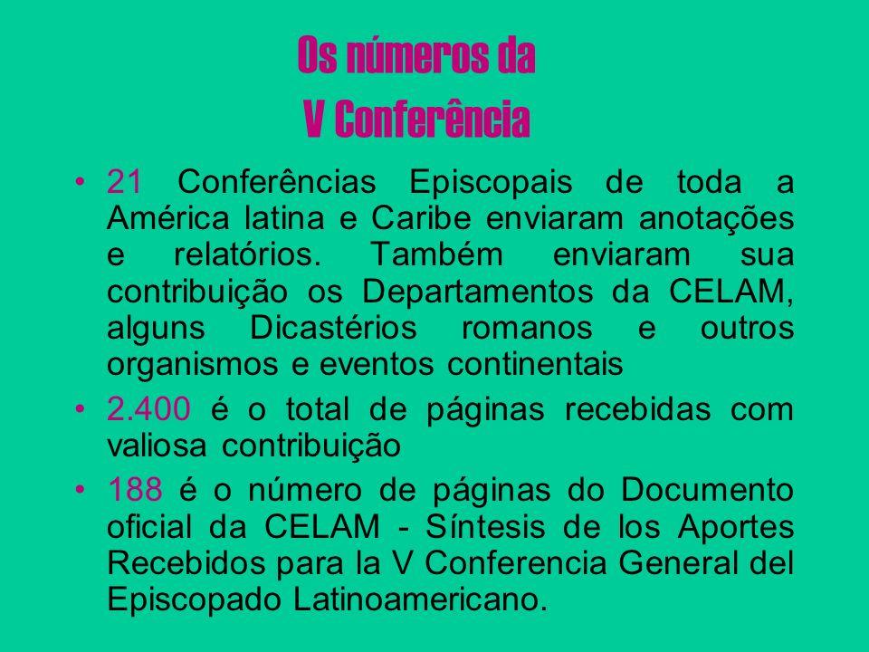Os números da V Conferência
