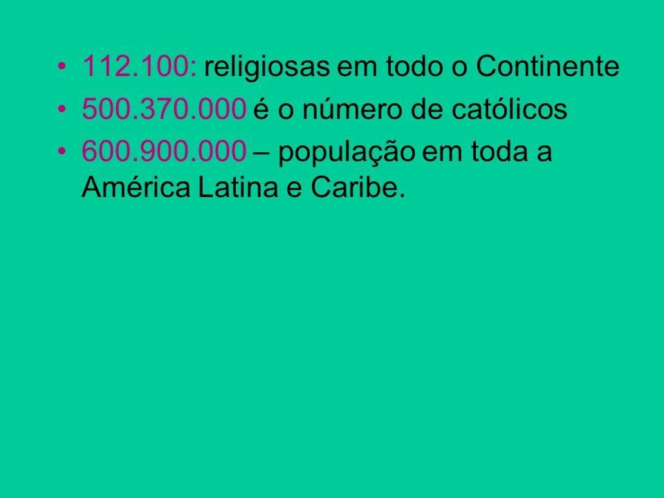 112.100: religiosas em todo o Continente