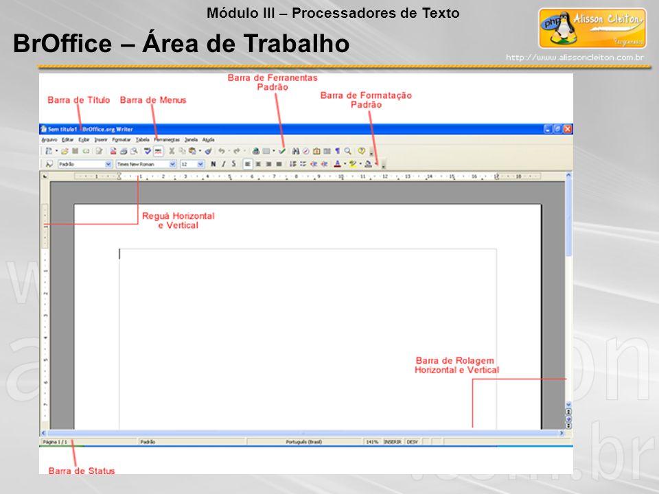 BrOffice – Área de Trabalho