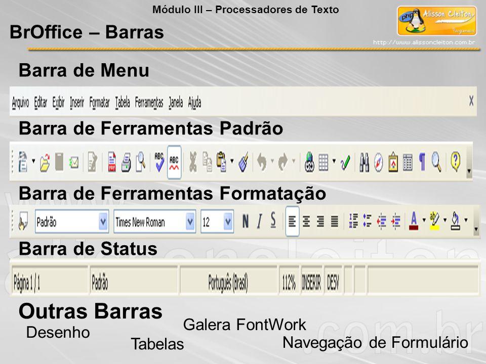 Outras Barras BrOffice – Barras Barra de Menu