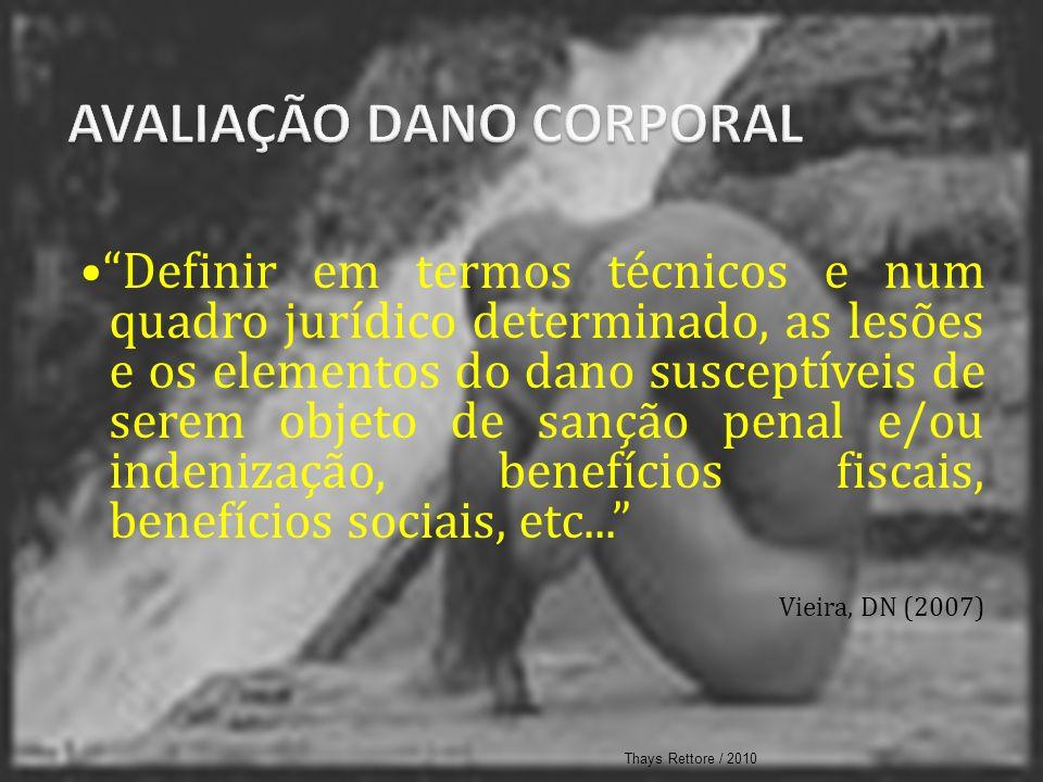 AVALIAÇÃO DANO CORPORAL