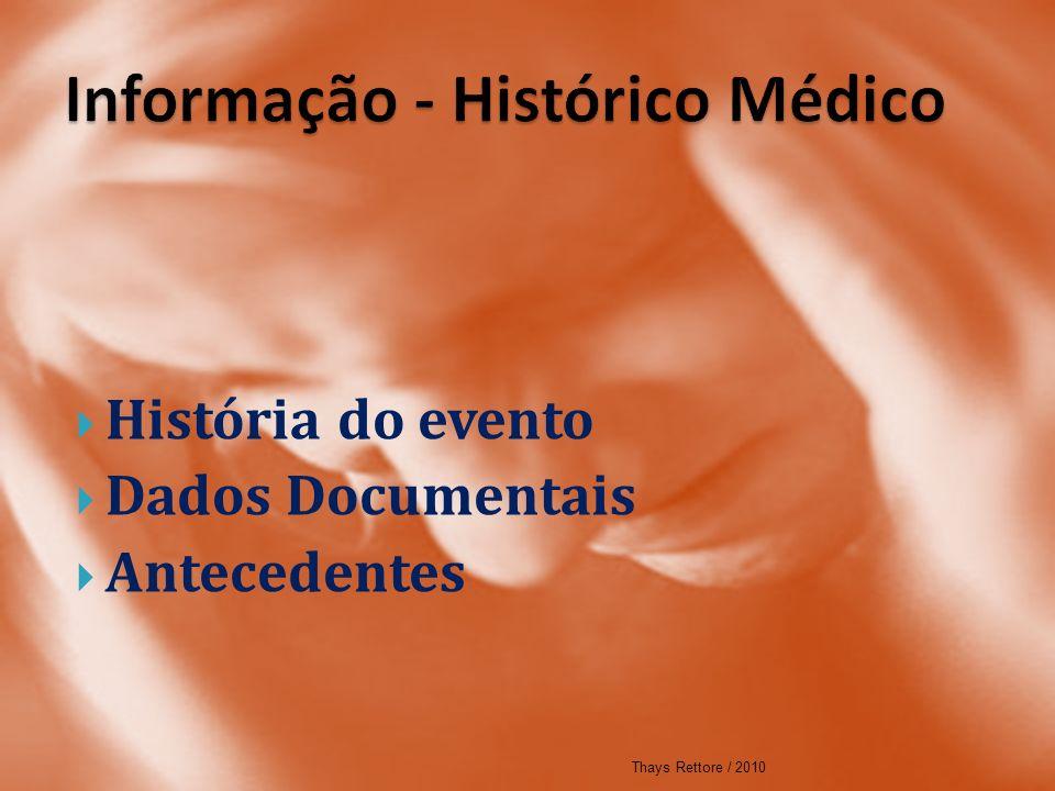 Informação - Histórico Médico