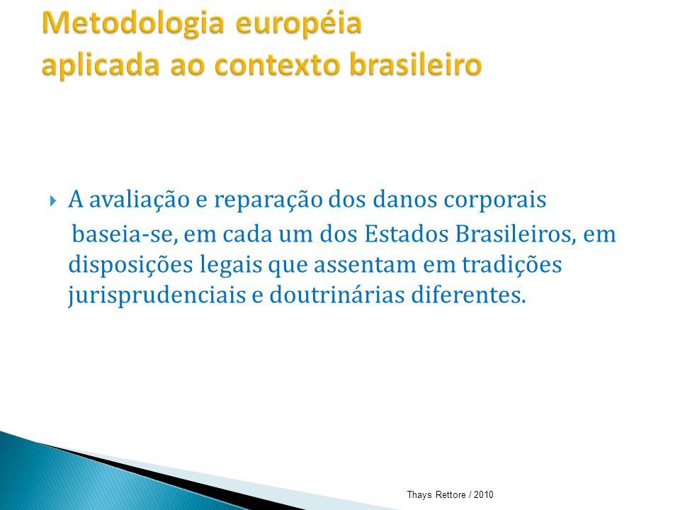 Metodologia européia aplicada ao contexto brasileiro