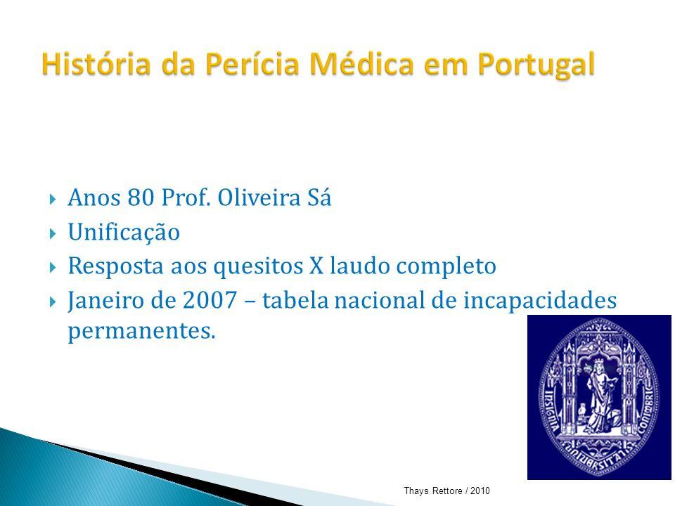 História da Perícia Médica em Portugal