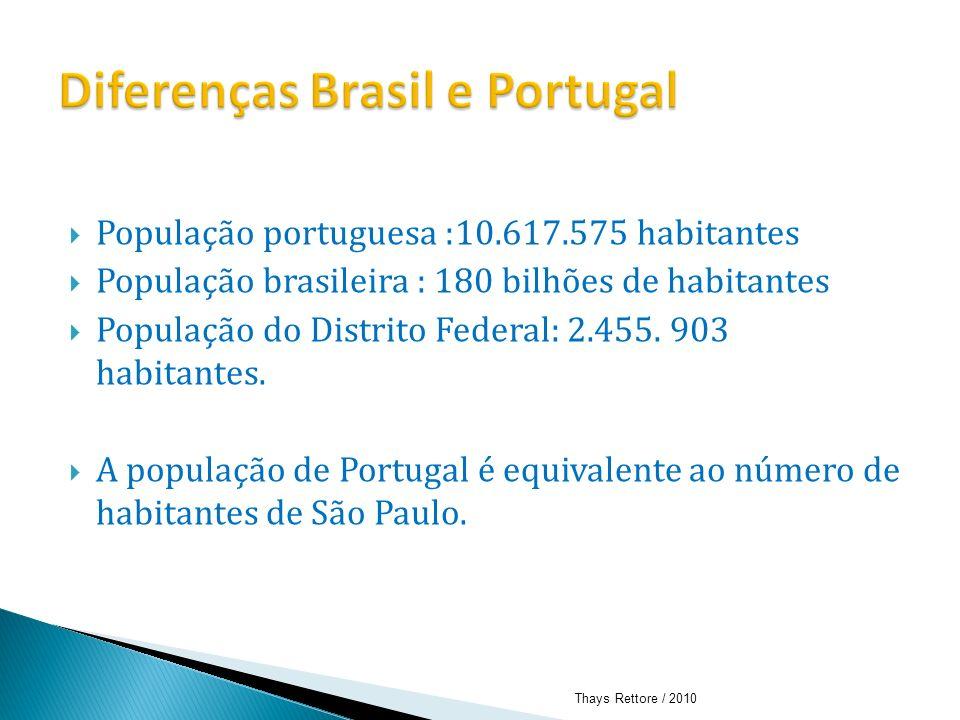 Diferenças Brasil e Portugal