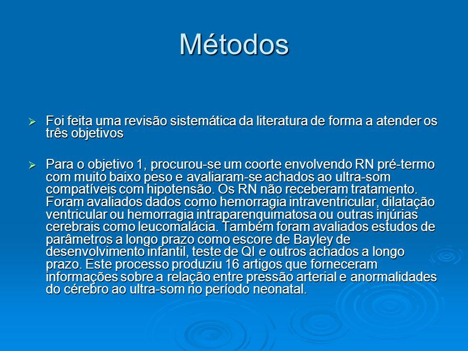 Métodos Foi feita uma revisão sistemática da literatura de forma a atender os três objetivos.