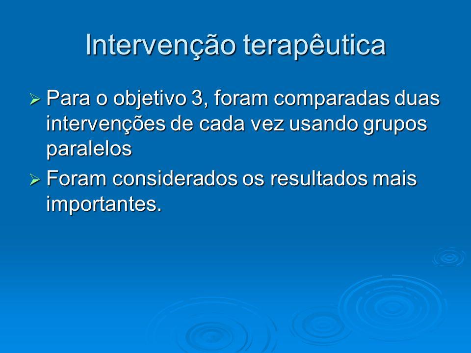 Intervenção terapêutica