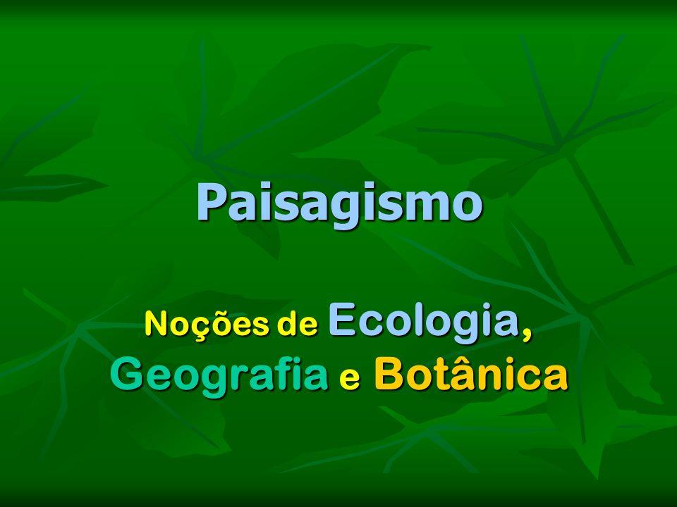 Noções de Ecologia, Geografia e Botânica