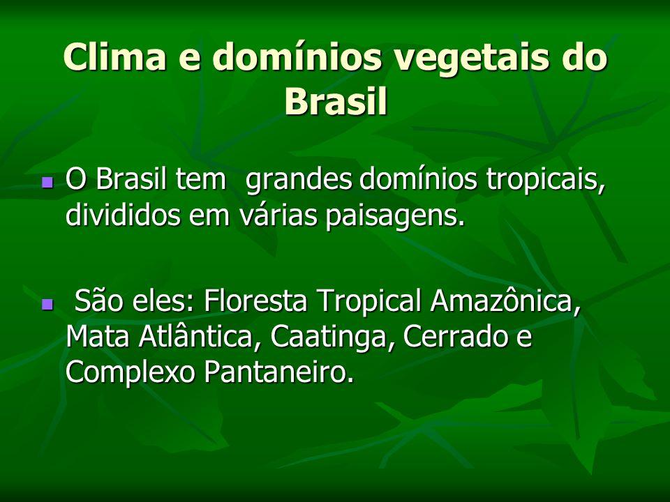 Clima e domínios vegetais do Brasil