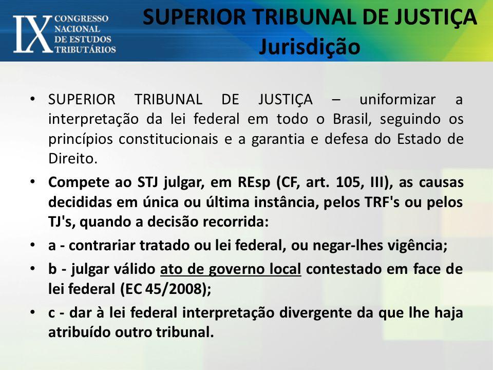 SUPERIOR TRIBUNAL DE JUSTIÇA Jurisdição