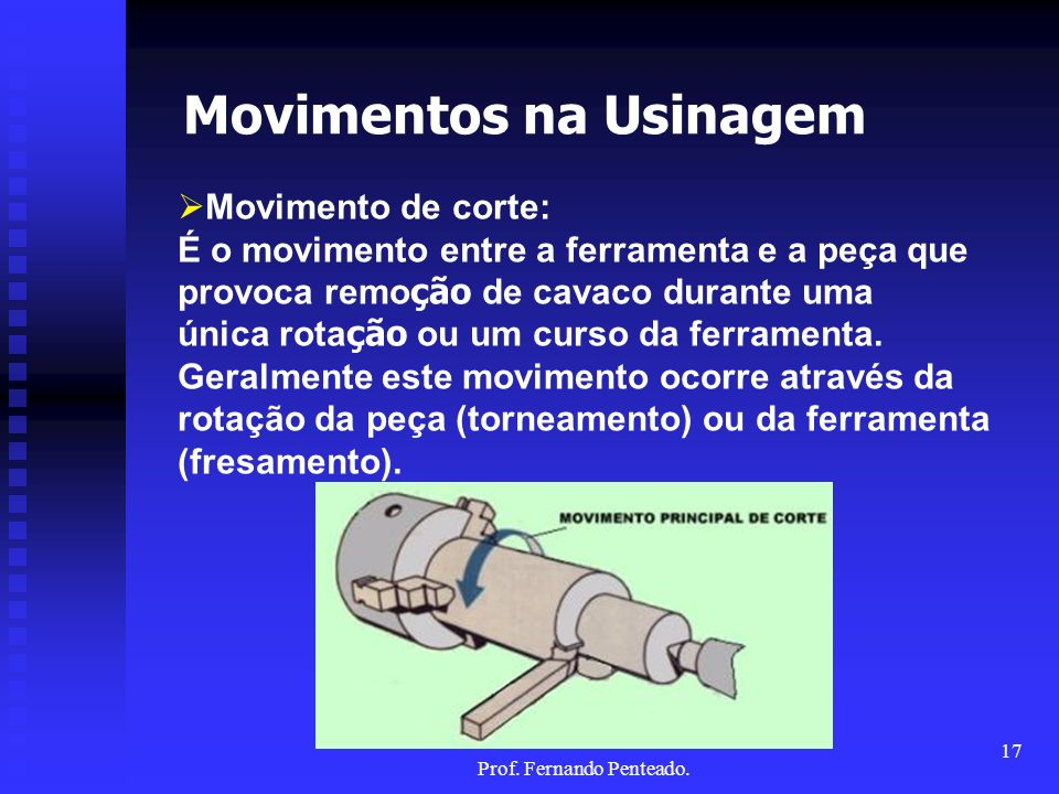 Movimentos na Usinagem