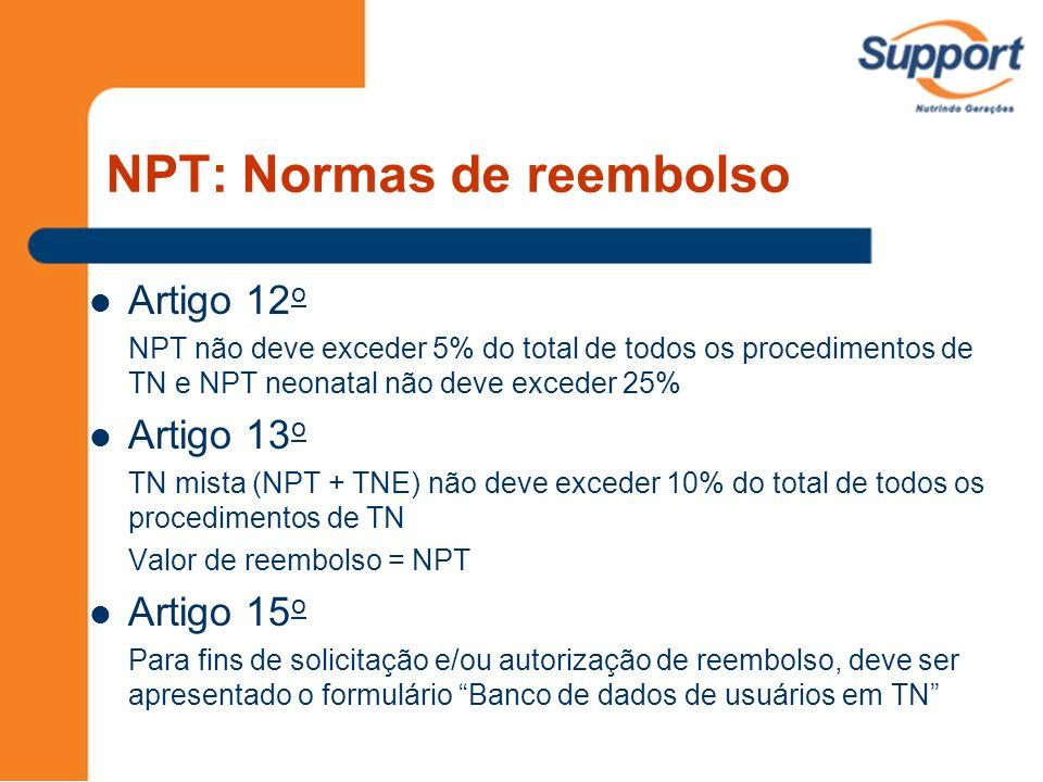 NPT: Normas de reembolso