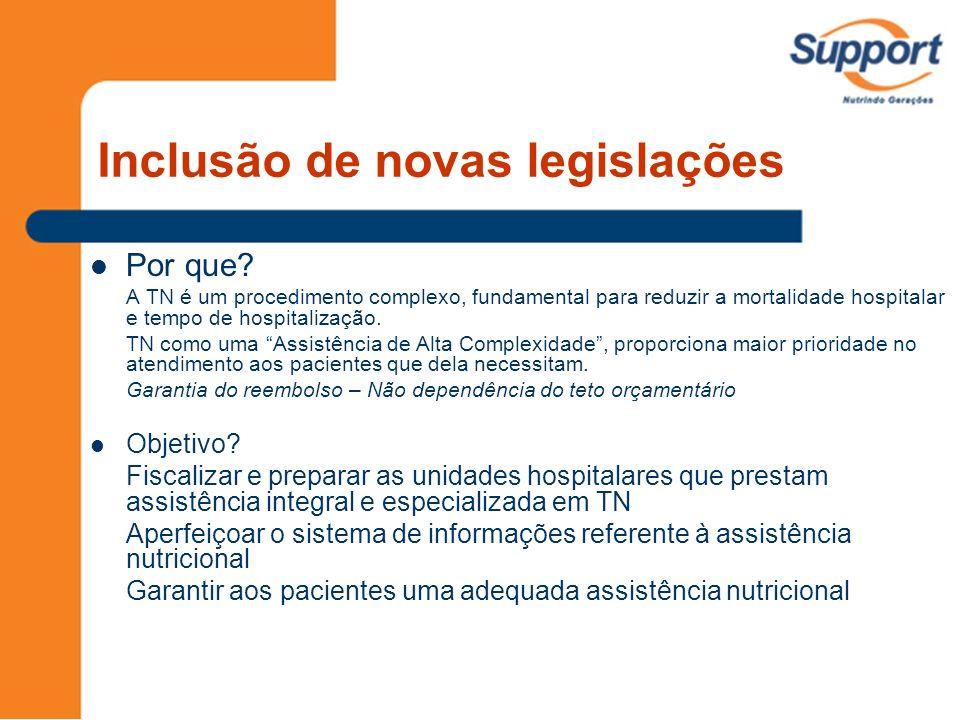 Inclusão de novas legislações