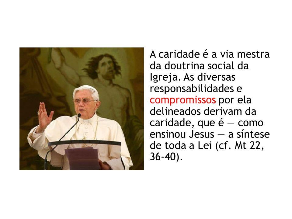 A caridade é a via mestra da doutrina social da Igreja