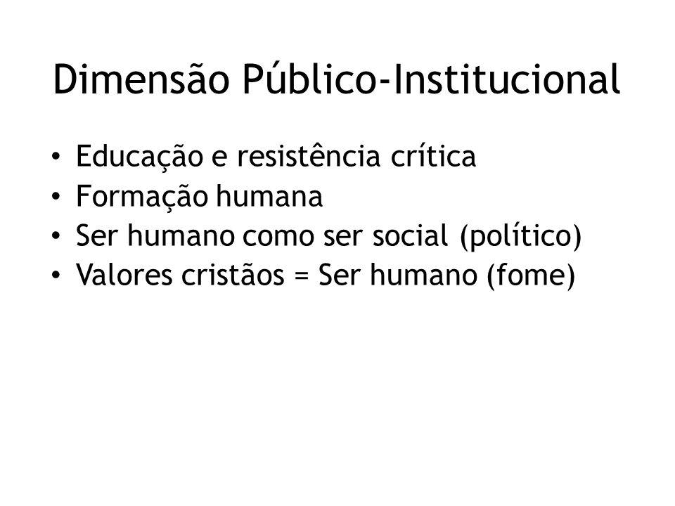 Dimensão Público-Institucional