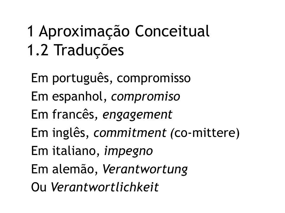 1 Aproximação Conceitual 1.2 Traduções