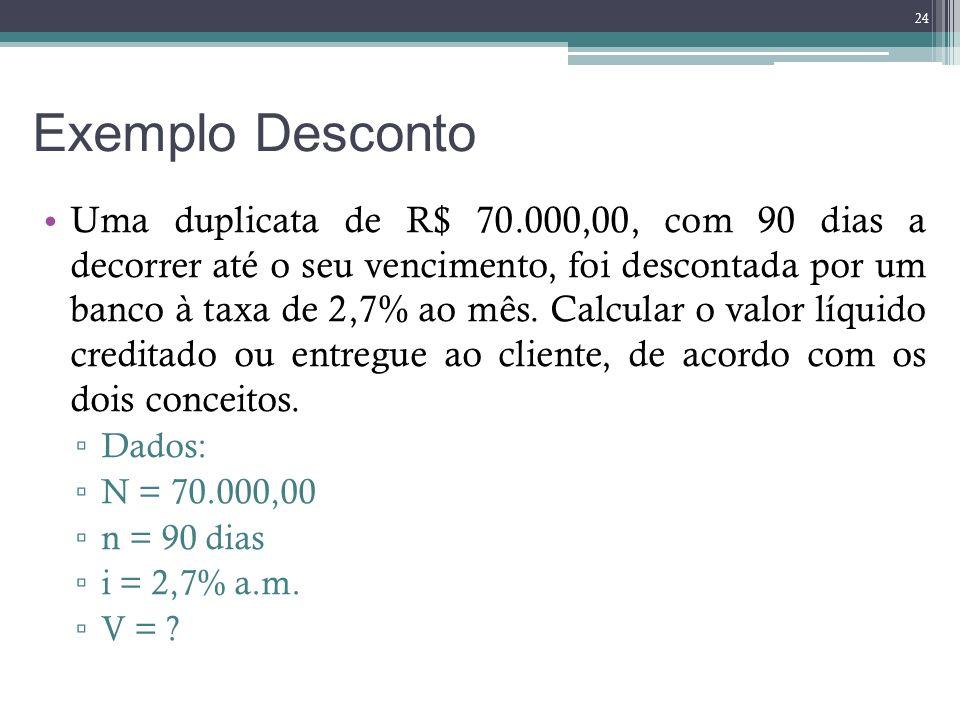 Exemplo Desconto