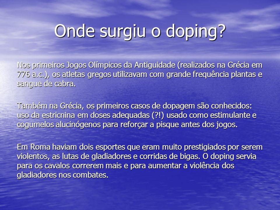 Onde surgiu o doping