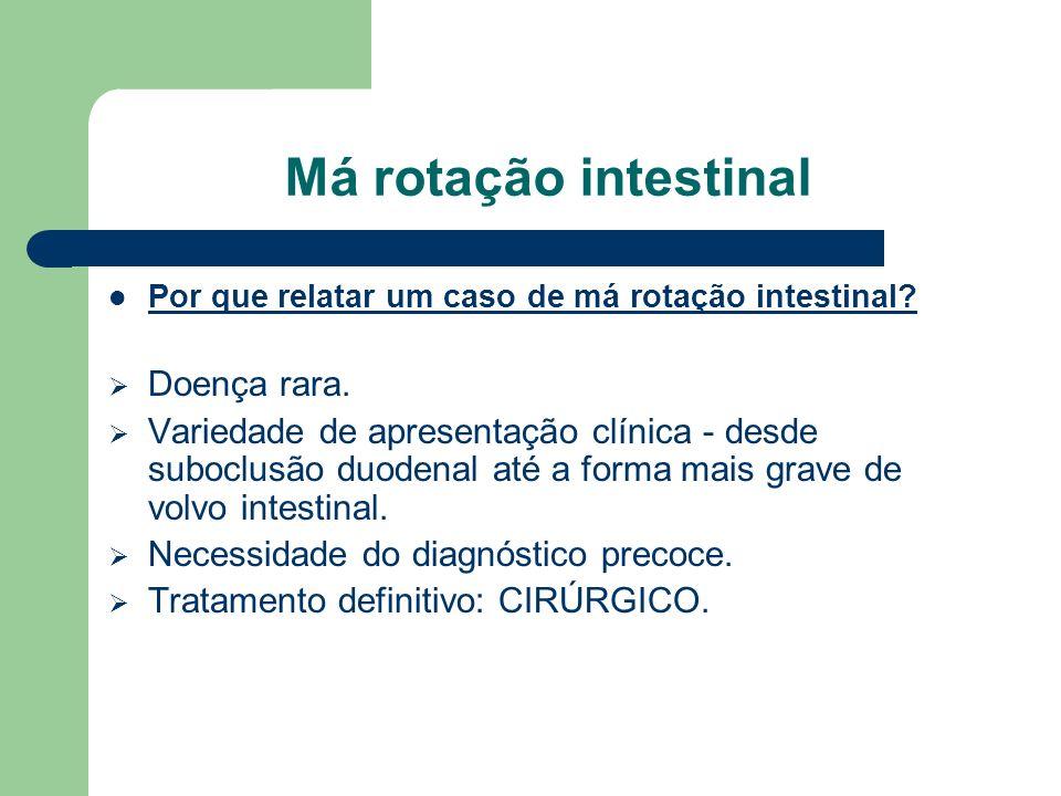 Má rotação intestinal Doença rara.